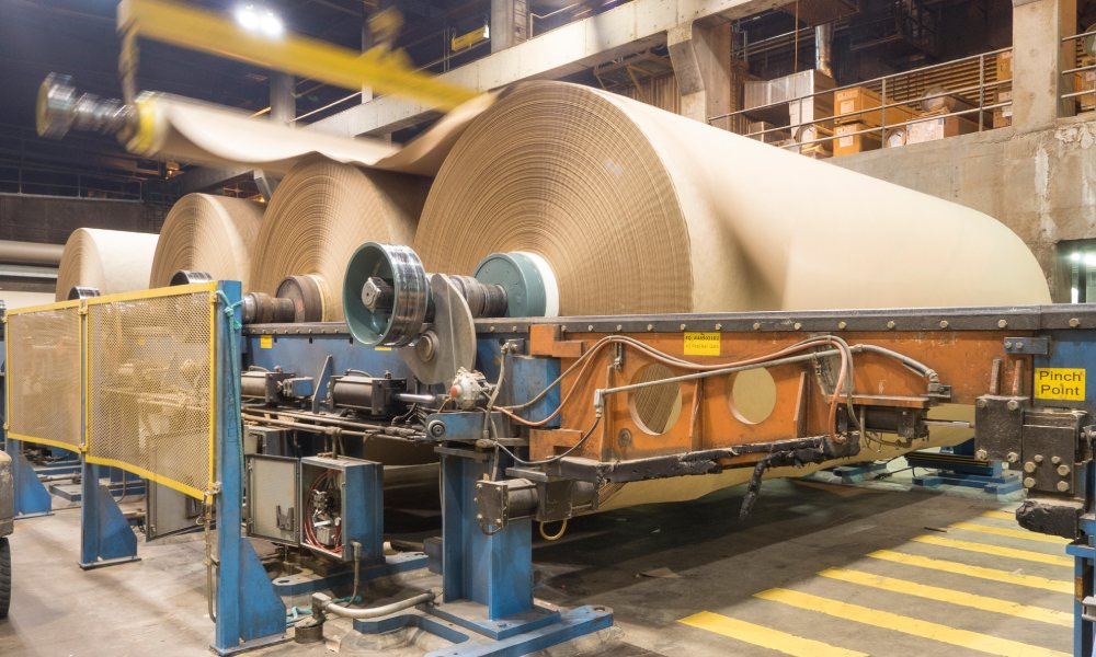 kraft paper production facility in america