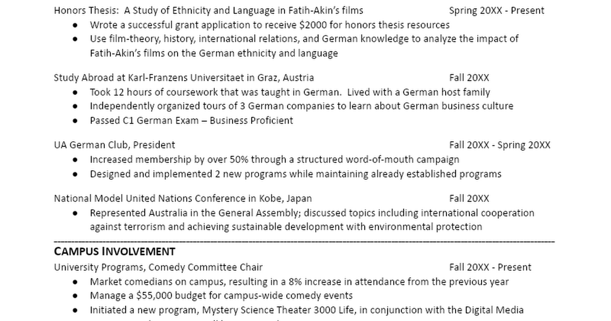 german sample resume updated docx