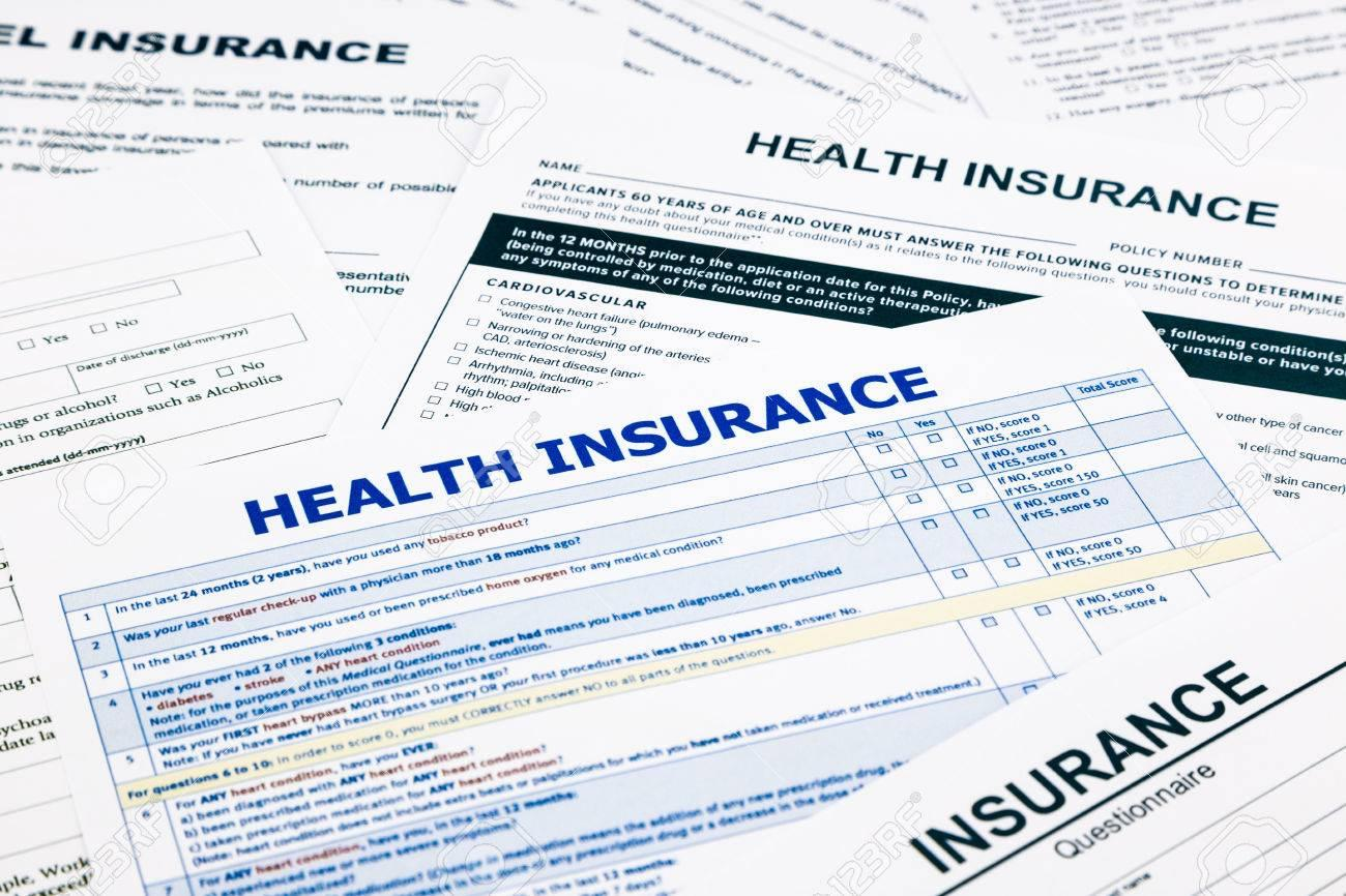 Image result for health insurance paperwork