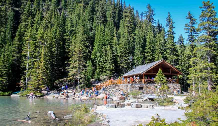 One of the top things to do in Lake Louise in summer is a hike up to the Lake Agnes Tea House