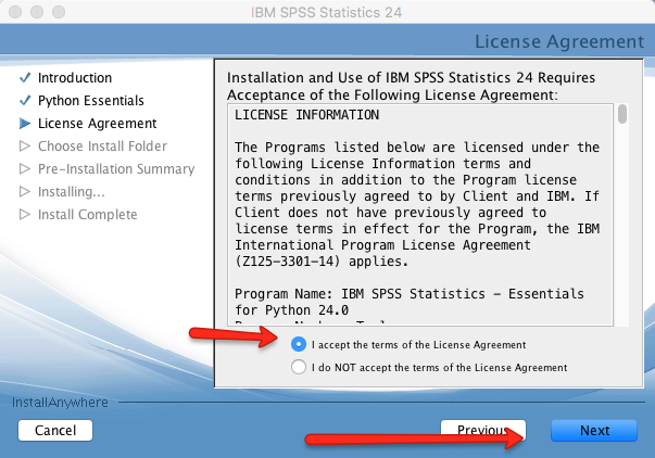 Mac SPSS Python License Agreement 2