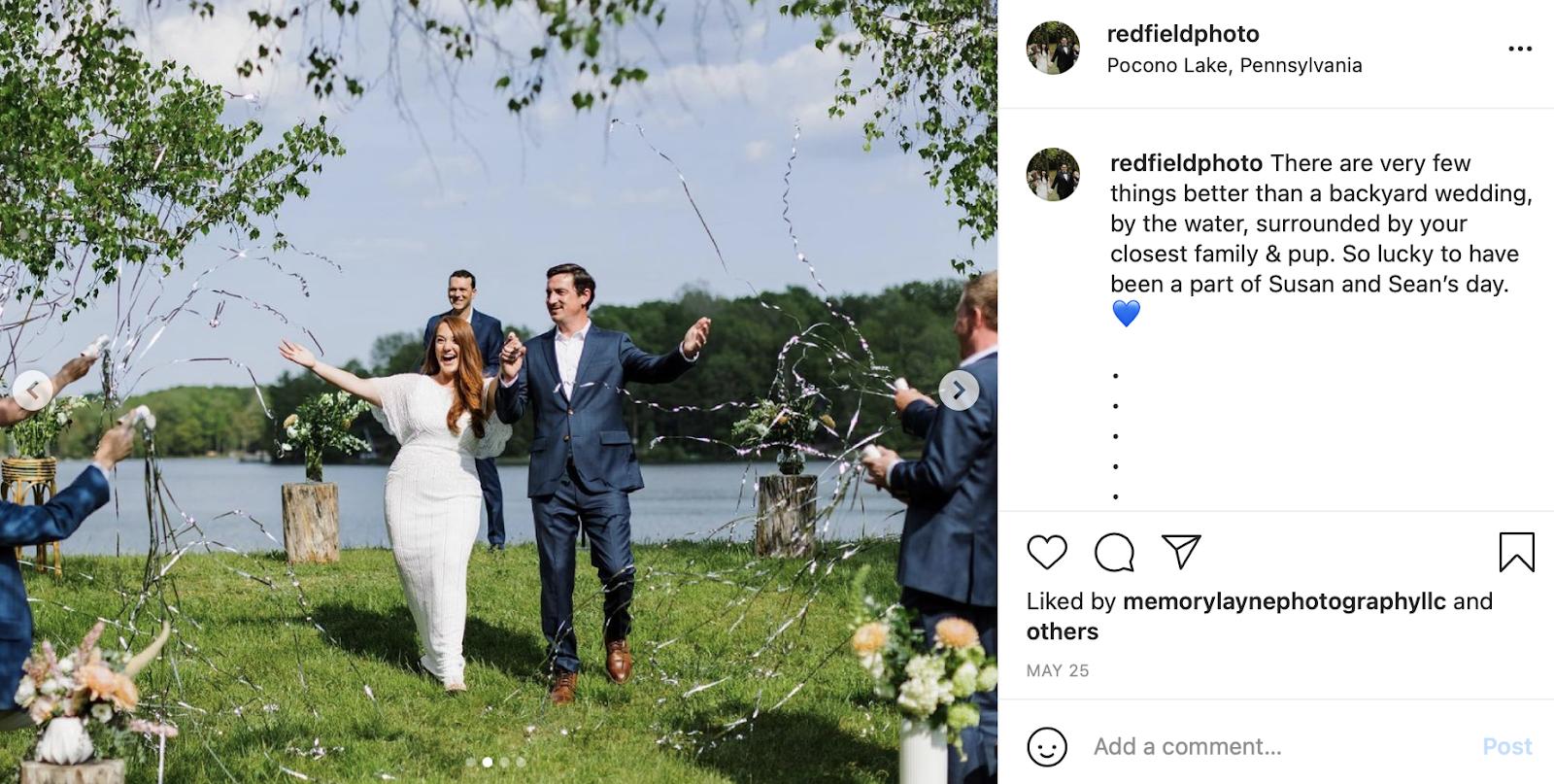 backyard wedding photo