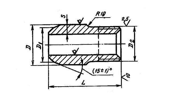 Схема Штуцера ГОСТ 22792-83