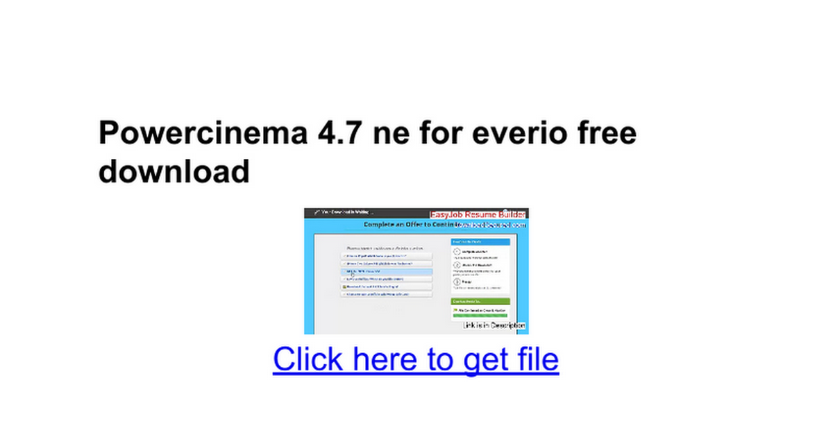 Download powercinema 6. 0. 3316 for pc free.