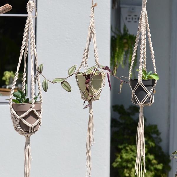 品品市集-植物吊籃編織