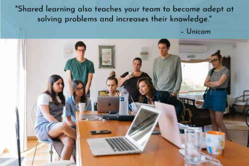 """""""Hold monthly luncheons where you give seasoned CSRs a chance to present to other members of the staff. That lets you take advantage of the expertise of seasoned CSRs that have been built up over the years. Shared learning also teaches your team to become adept at solving problems and increases their knowledge."""" – 7 Proven & Super Easy Tips for Training Customer Service Staff, Unicom"""