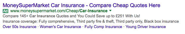 Structured Snippet Examples for insurance companies