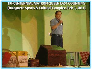Tri-Centennial Matron Queen Last Counting