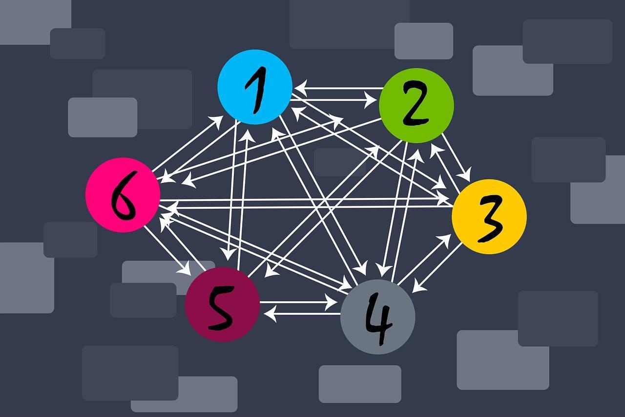 schéma flèches et chiffre