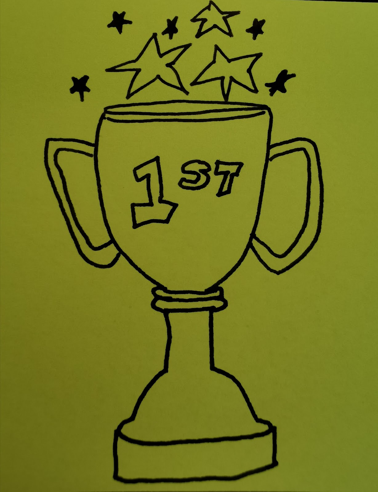 trophy image drawing