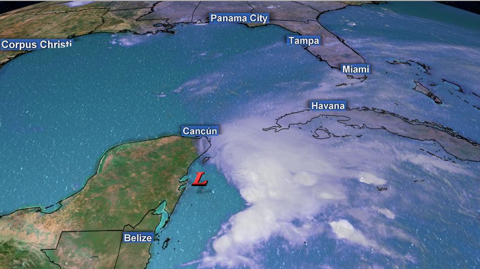Max Scene Presentation - Storm over the northwestern Caribbean Sea
