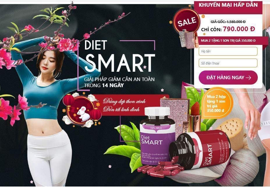 Giảm cân Diet Smart giá bao nhiêu? Mua ở đâu?