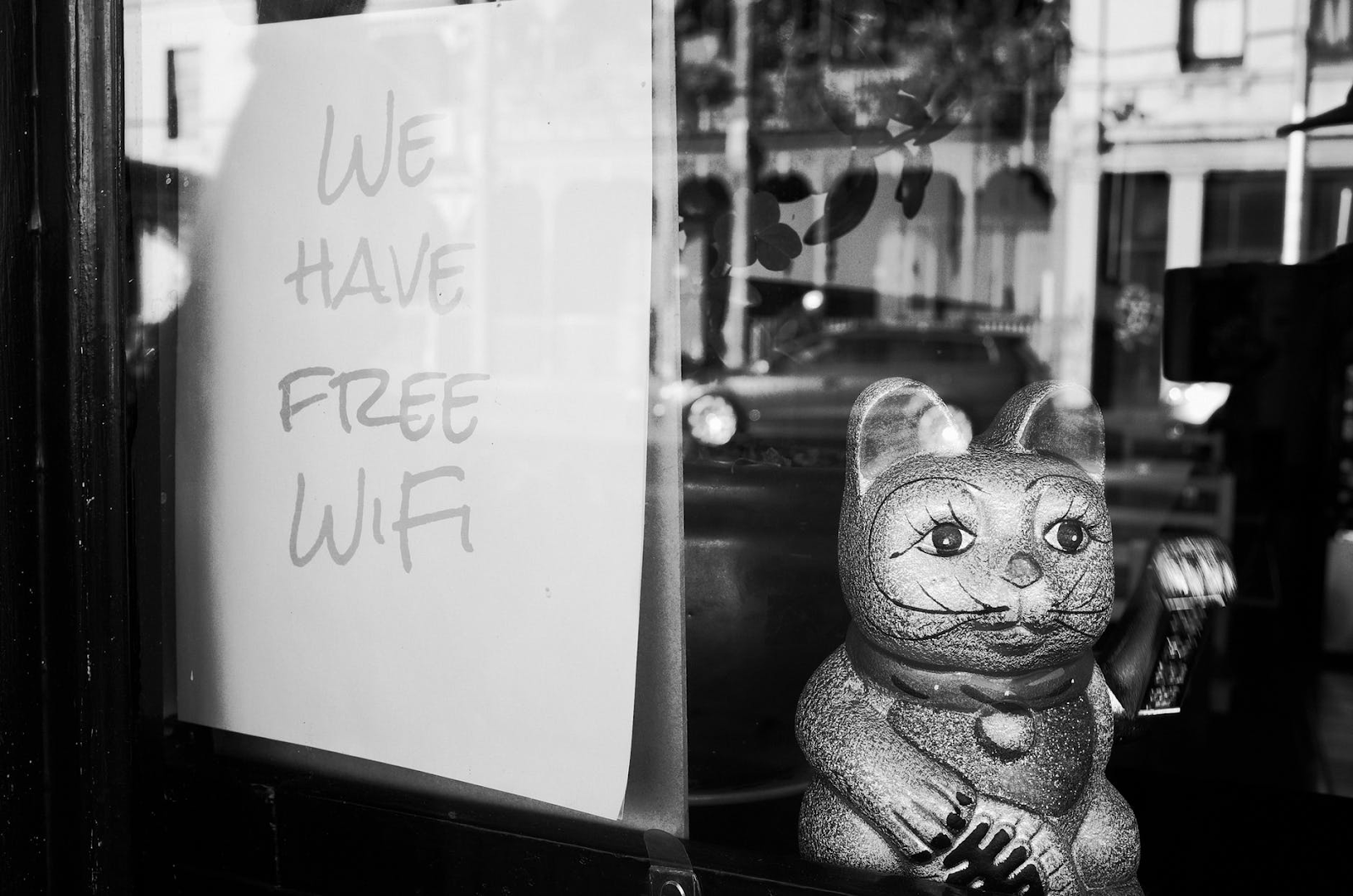 do not use public wifi to stay secure