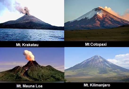 ज्वालामुखी पर्वत चित्र