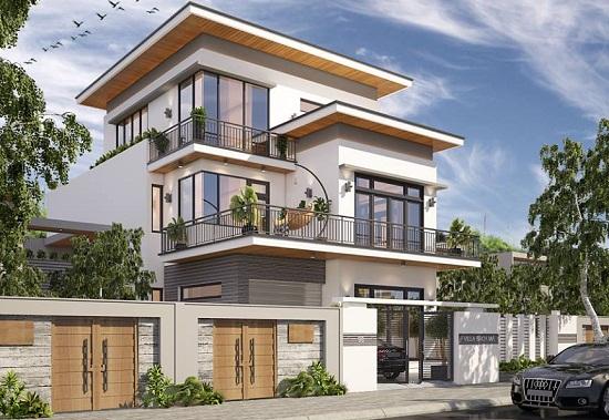 Sự cân đối và hài hòa về hình khối ngôi nhà khi thiết kế ngoại thất