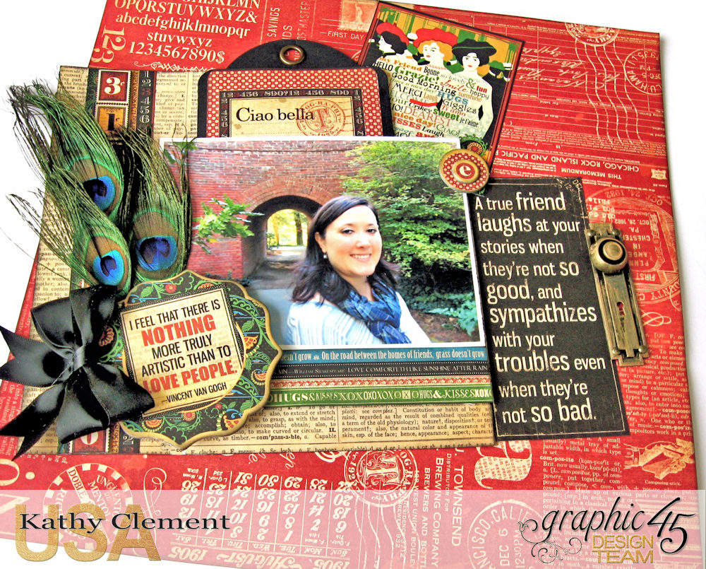 Ciao Bella Layout Tutorial Typography by Kathy Clement Product by Graphic 45 Photo 8 .jpg