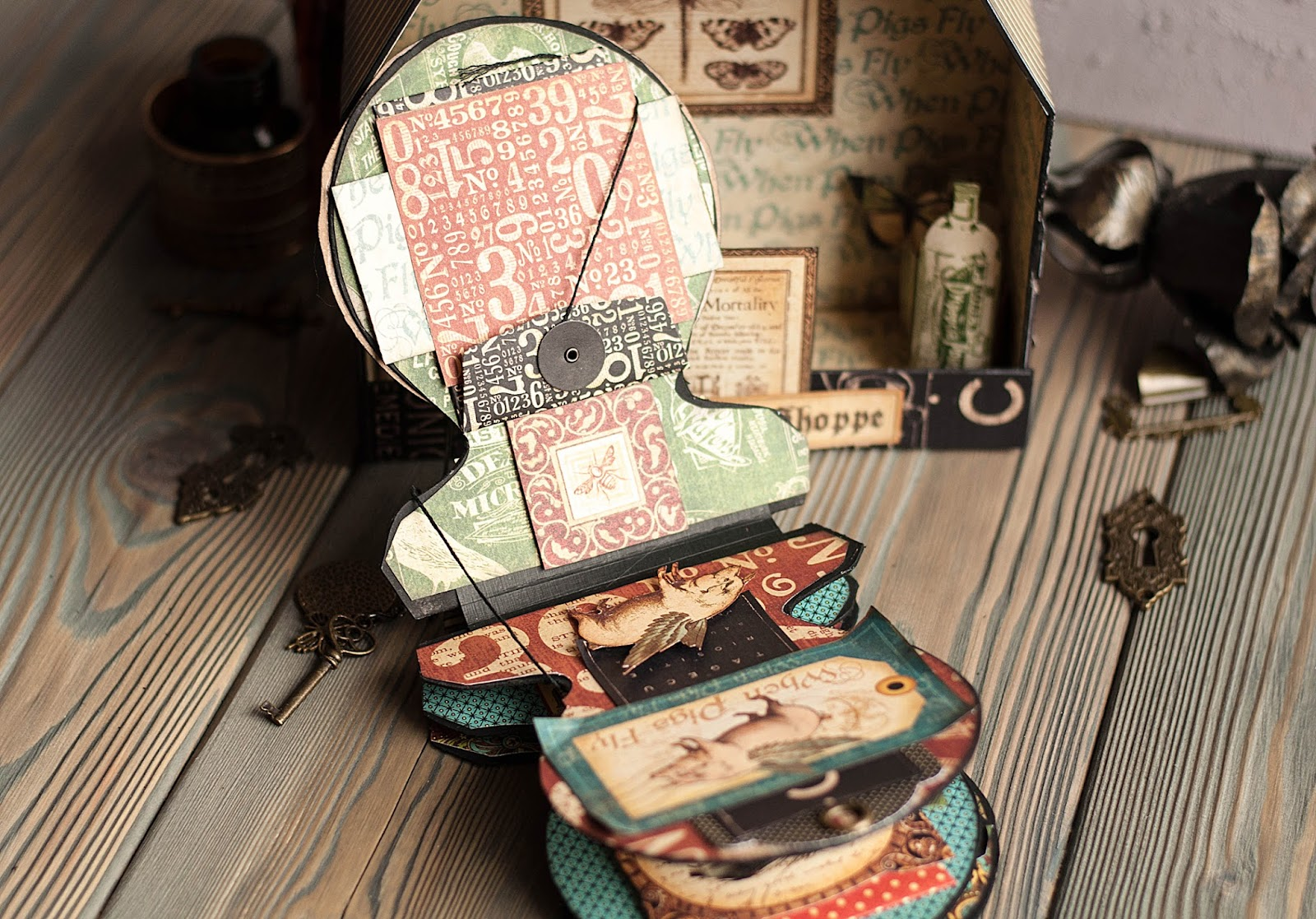 Olde Curiosity Shoppe-Album and Shoppe-tutorial by Lena Astafeva-products by Graphic 45-35.jpg
