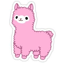 Image result for pink alpaca drawing