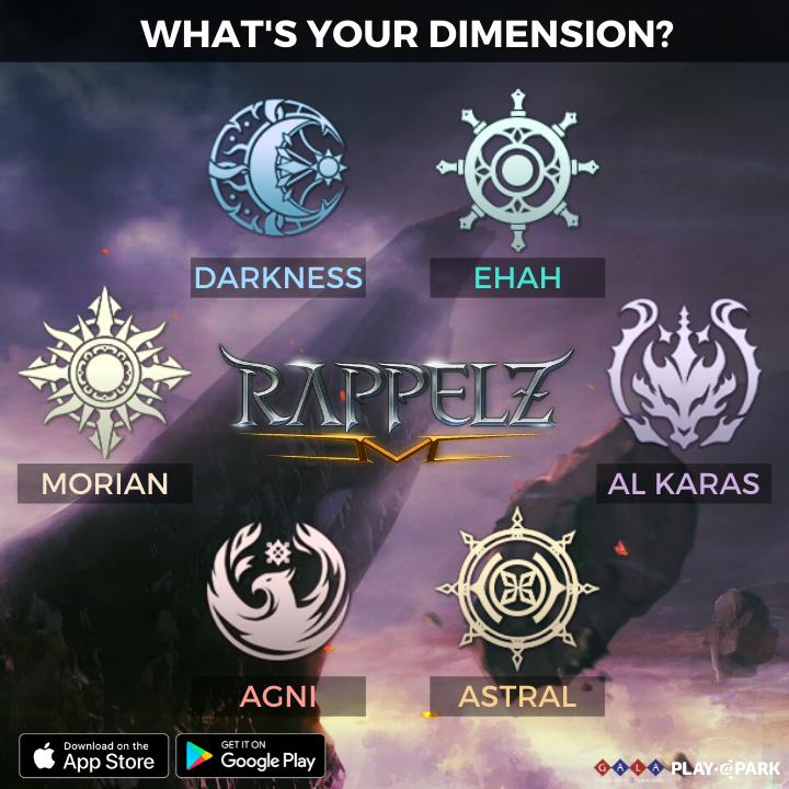 The 6 dimensions, Agni, Astral, Al Karas, Ehah, Darkness, Morian