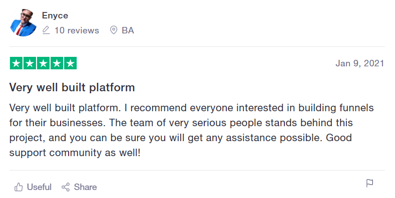 User review.