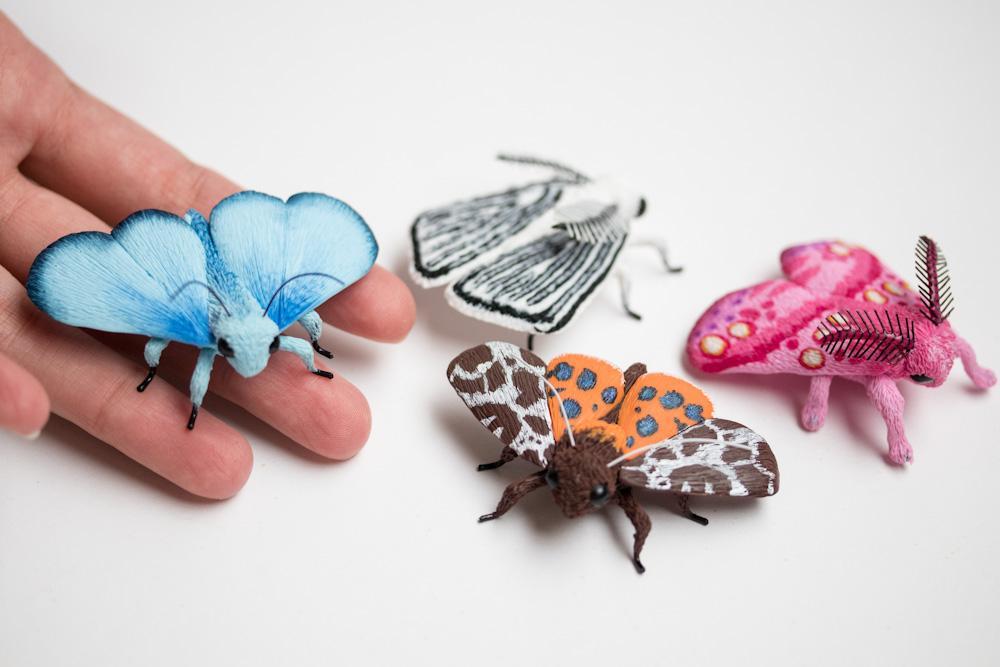 clay butterflies