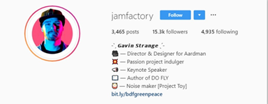 using specialized font for your name in your instagram bio