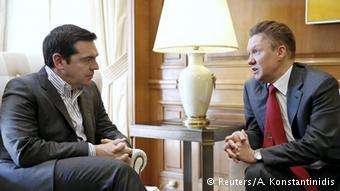 Алексис Ципрас и Алексей Миллер