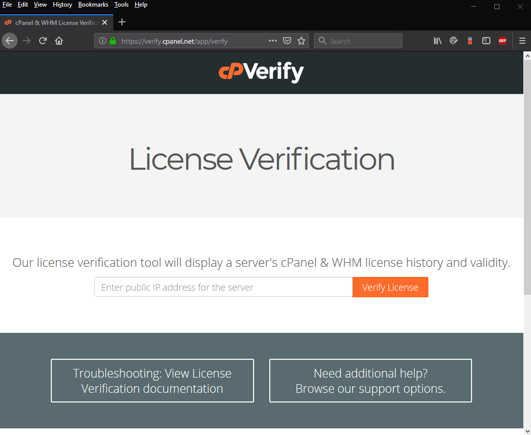 How to perform a cpanel license check - cpanel license verification tool