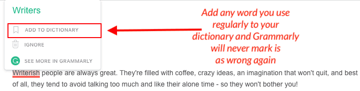 grammarly feature example