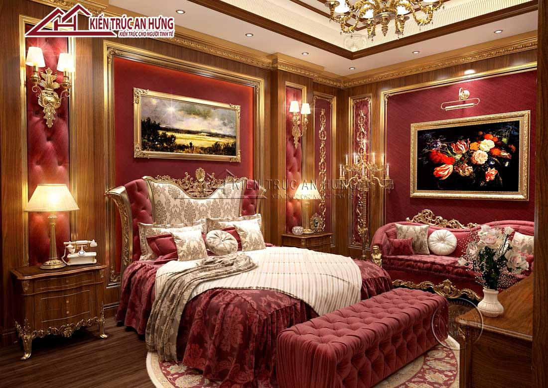 Với cách thiết kế nội thất phòng ngủ NT1715, gia chủ như được chìm đắm trong giấc ngủ hoàng gia vương giả