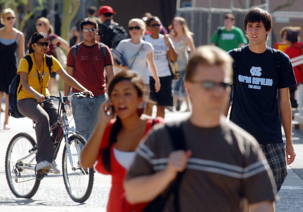 2007年,亚利桑那州立大学的学生。