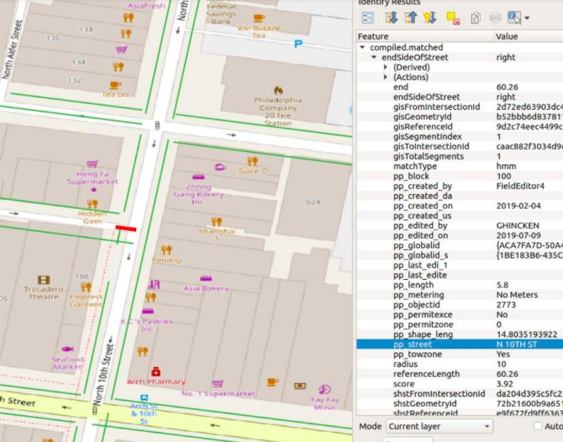 Exemplos de calçadas desalinhadas no mapa