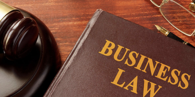Picture of book that has business law as the title