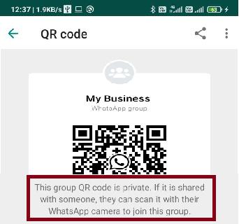 WhatsApp group QR code
