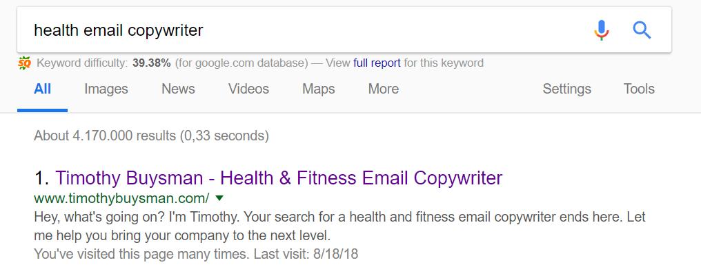 health email copywriter