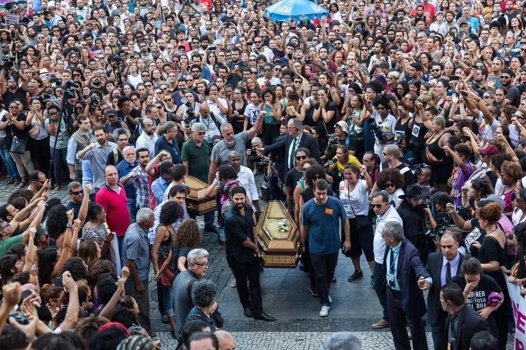 Resultado de imagem para funeral marielle freixo