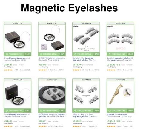 Каталог товаров магнитных ресниц