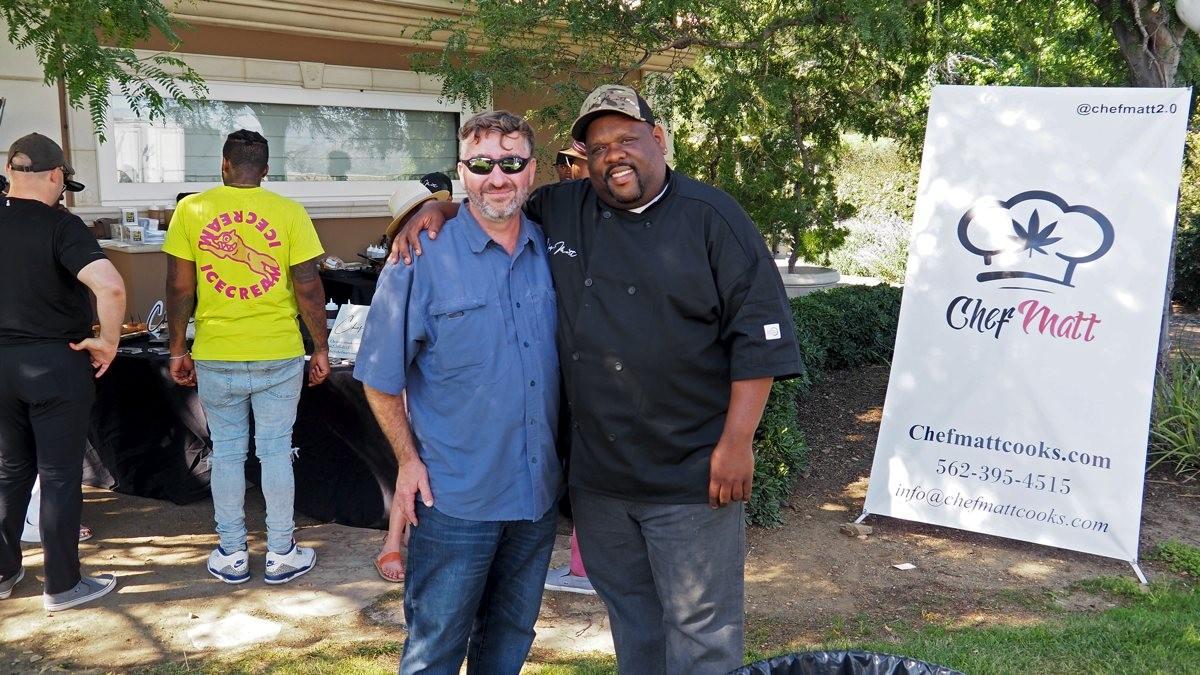 Ian Rassman, left, and Chef Matt, right.