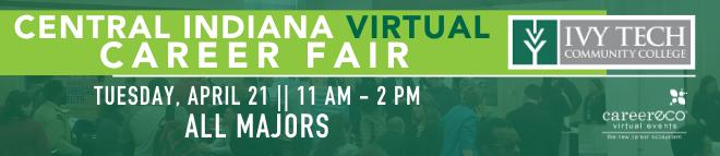 Ivy Tech Virtual Career Fair Banner
