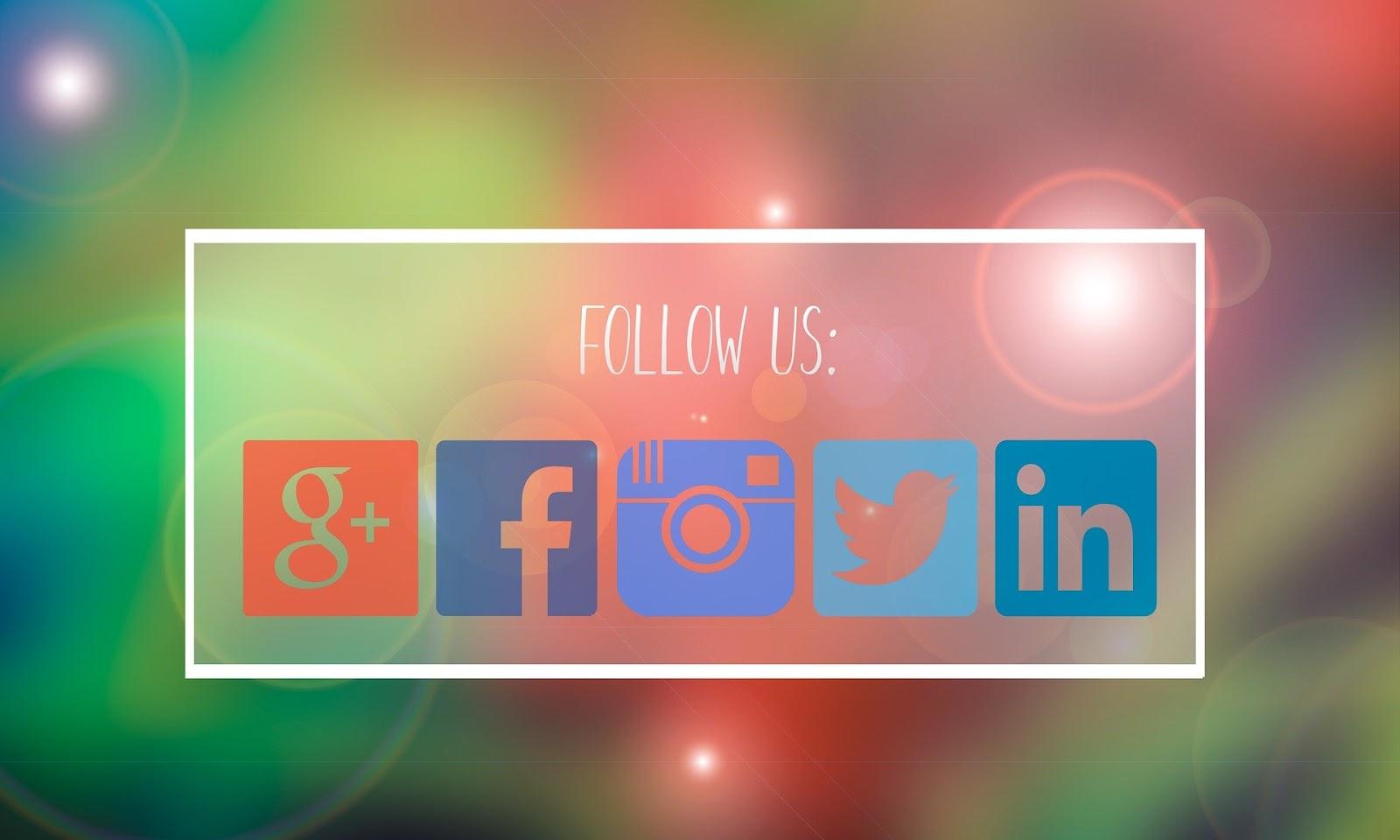 Social media icons for a restoration company