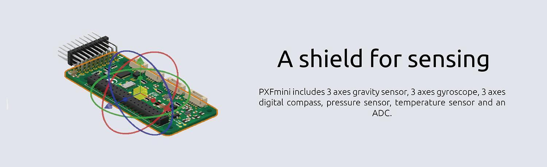 PXFMini Open Shield for Raspberry Pi Zero released by Erle Robotics