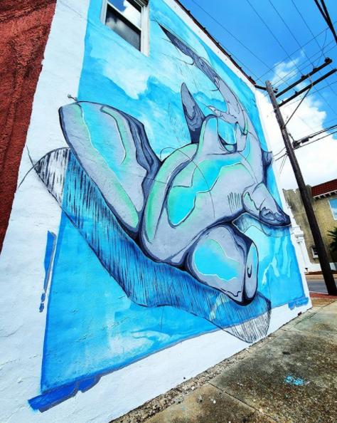 panama city mural hammerhead shark history class