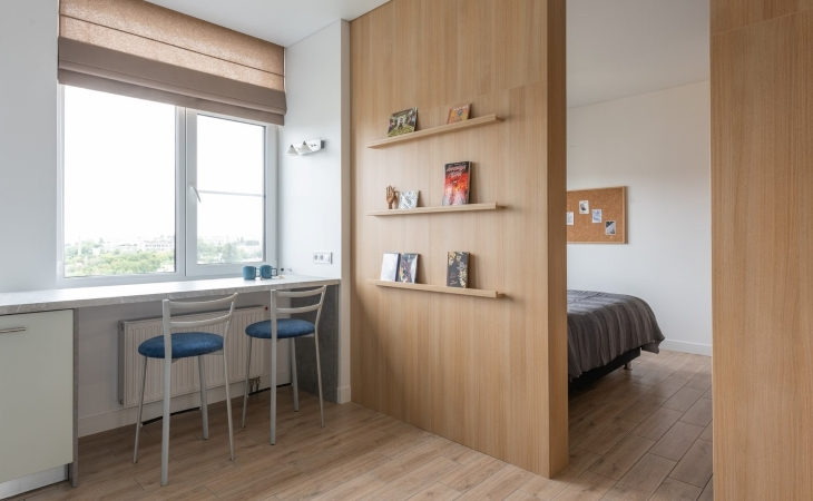 remove doors from doorways to maximize space when living in a small apartment