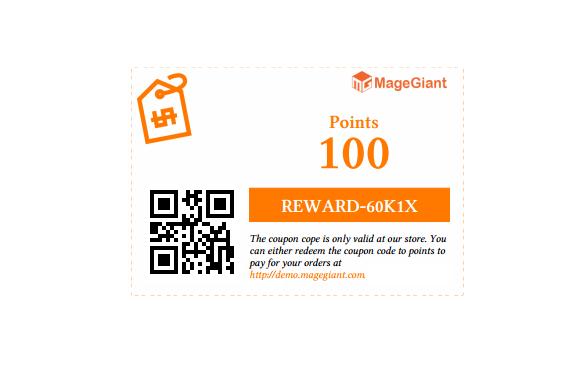 Reward Point Coupon Template