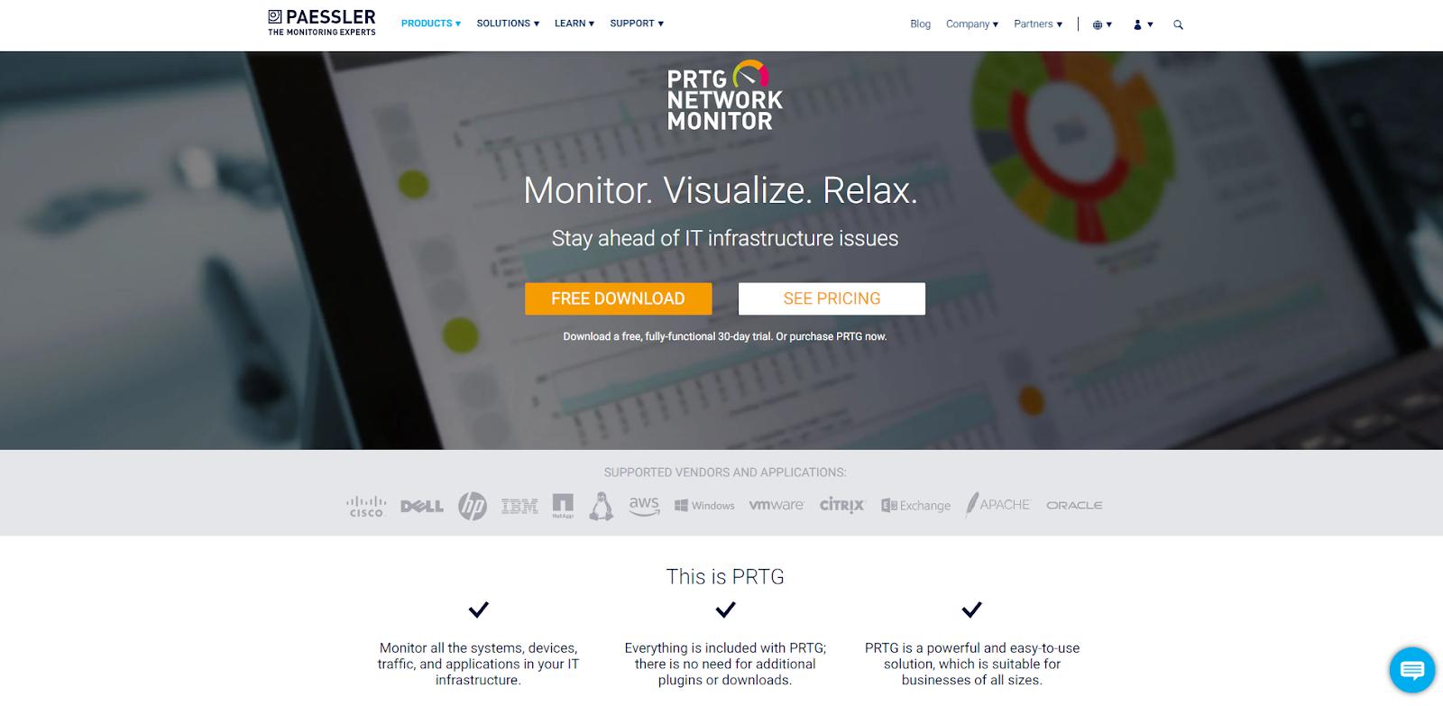 Paessler PRTG Network Monitoring Tools