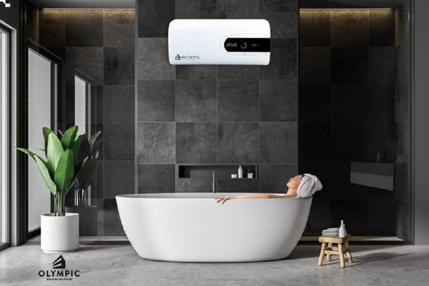 Nên chọn hình dáng bình nóng lạnh phù hợp không gian phòng tắm