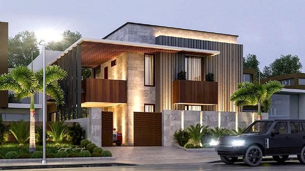 Mẫu biệt thự 2 tầng thiết kế theo phong cách hiện đại