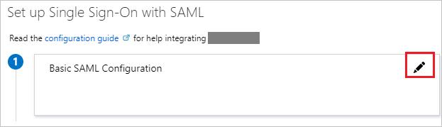 Edit Basic SAML Configuration