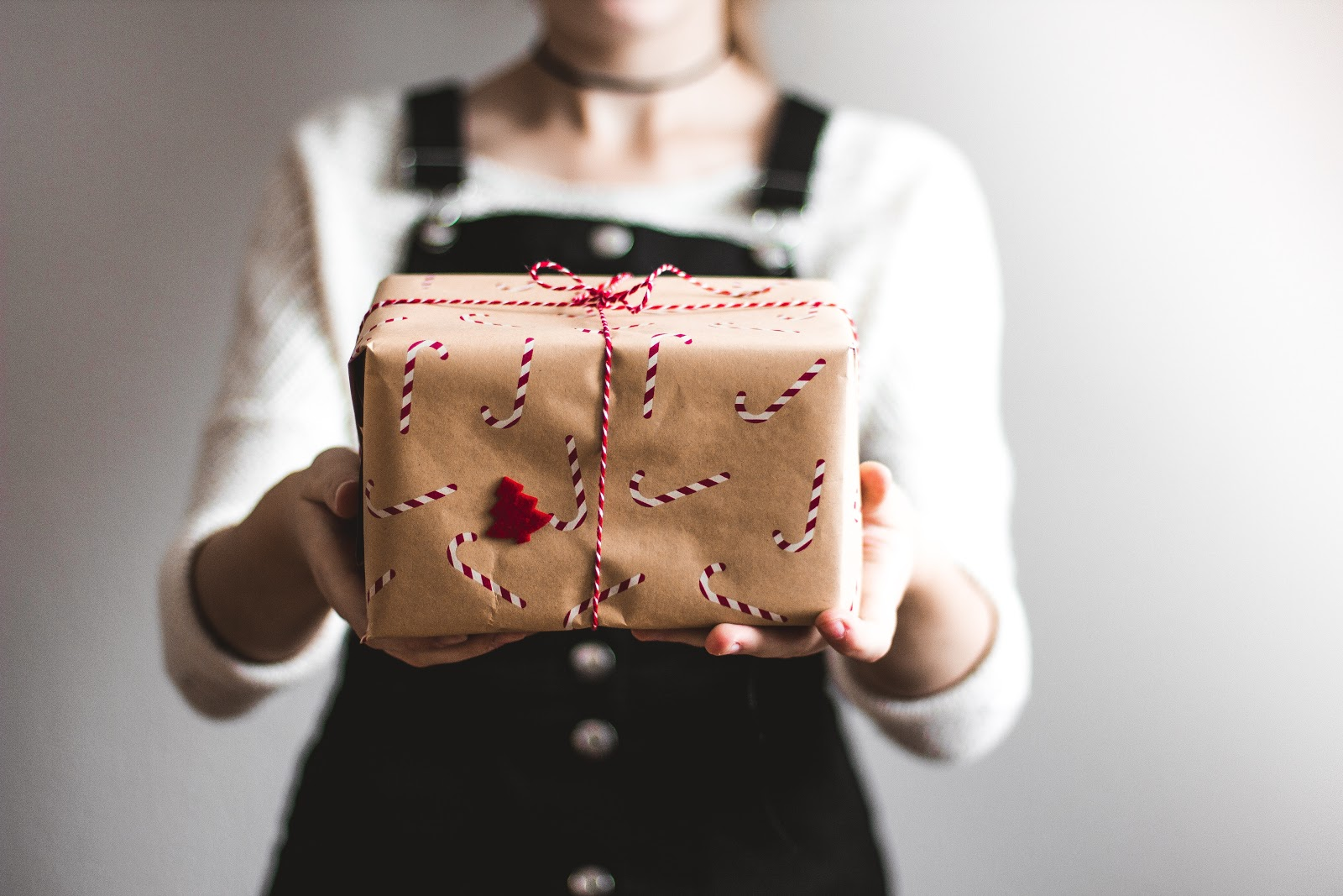 Girl holding a gift