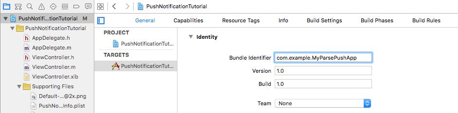 Xcode configuration